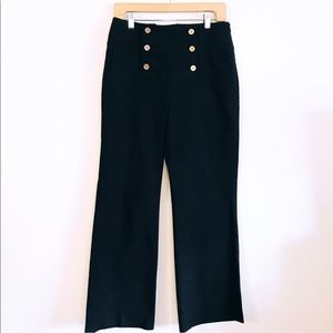 Lauren Ralph Lauren Navy Sailor Wide Leg Pants